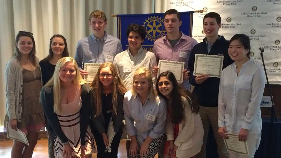 Lake Forest Rotary Recognizes Student Volunteers