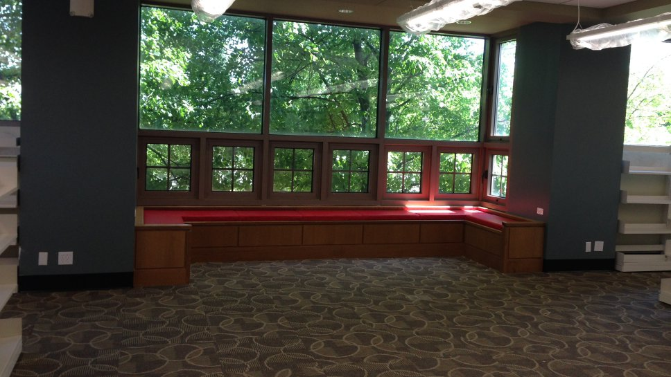 The Sky Light Was Removed In Youth Services Main Reading Room And New Window Seating