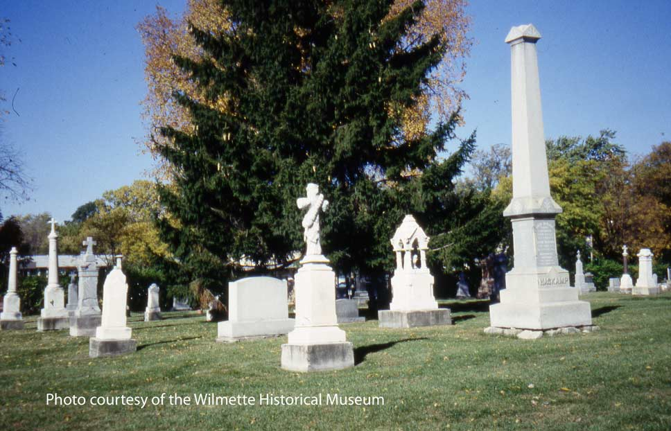 St. Joseph Cemetery, photo courtesy of the Wilmette Historical Society