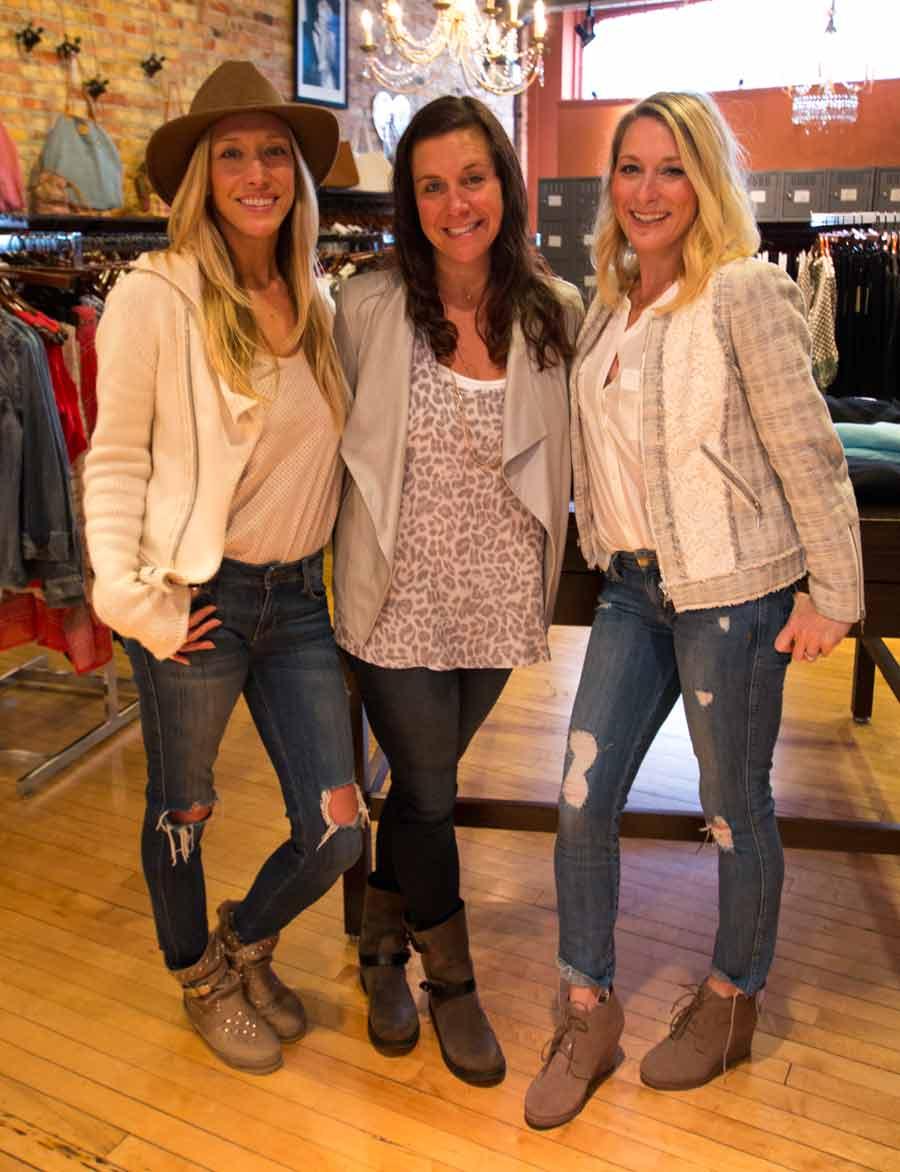 From left, Samantha Shapiro, Melinda Kaplan, and Lena Blitstein
