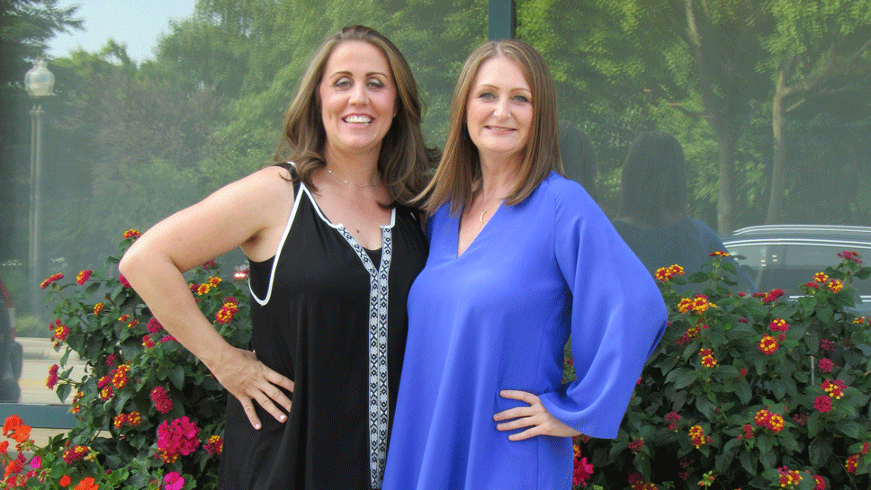 Makeover winners Andrea Pufpaf  and Shelly O'Regan (both from Northbrook)