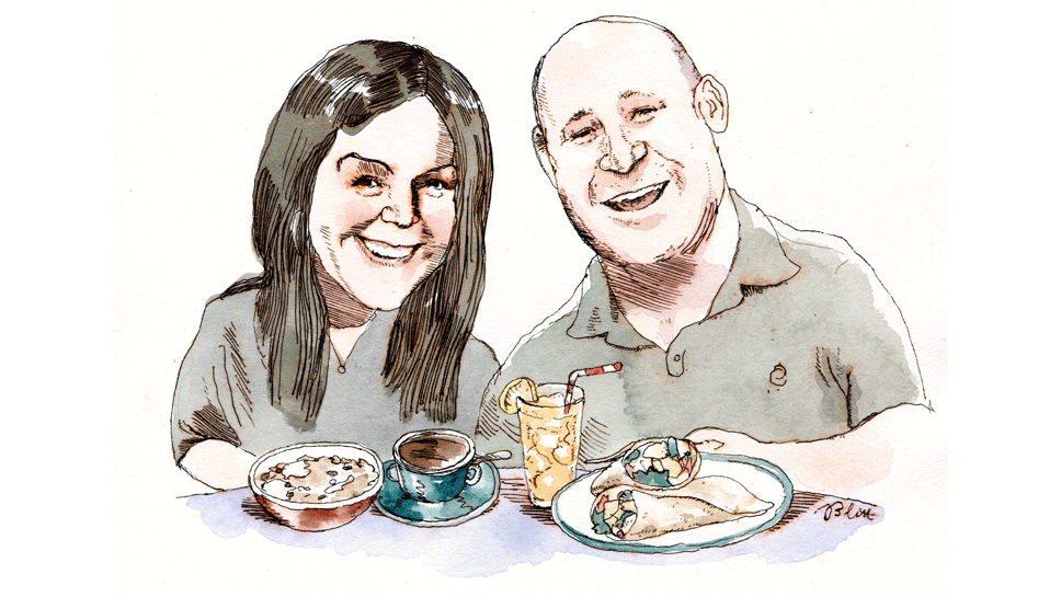 Jackie and Eric Gichner Illustration by Barry Blitt