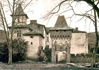 The Château de La Hille, southern France (1940) where the children's group was housed from 1941-1944.