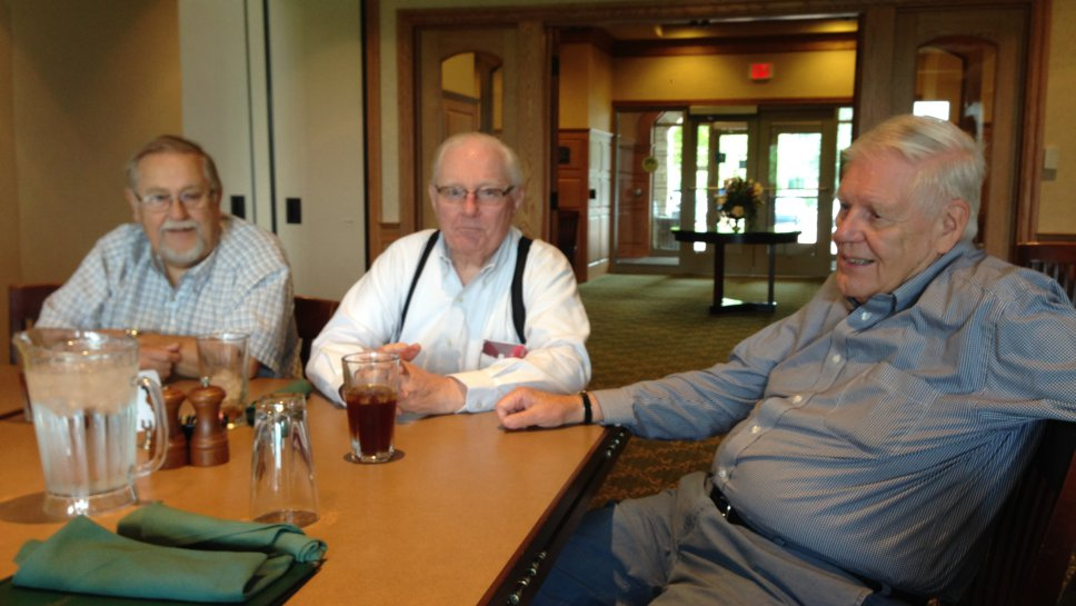 Wilmette Optimist Club members (left to right): Ron Witt, Peter Marvin, Don Butzen.