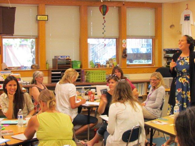 Winnetka teachers attend the Reading Institute workshop