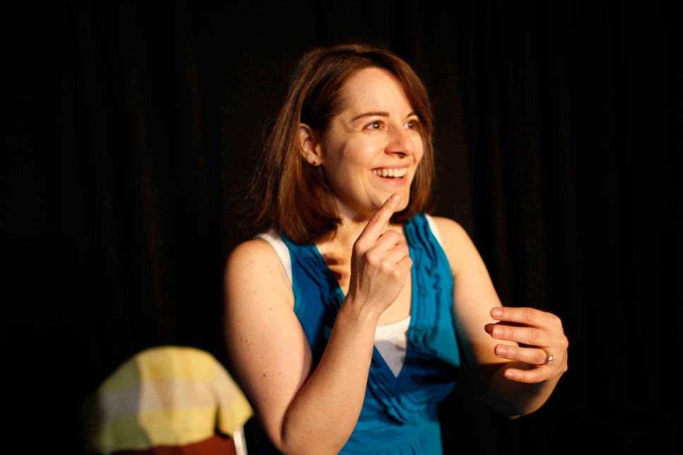 Kelly Haramis performing in Double Happiness.