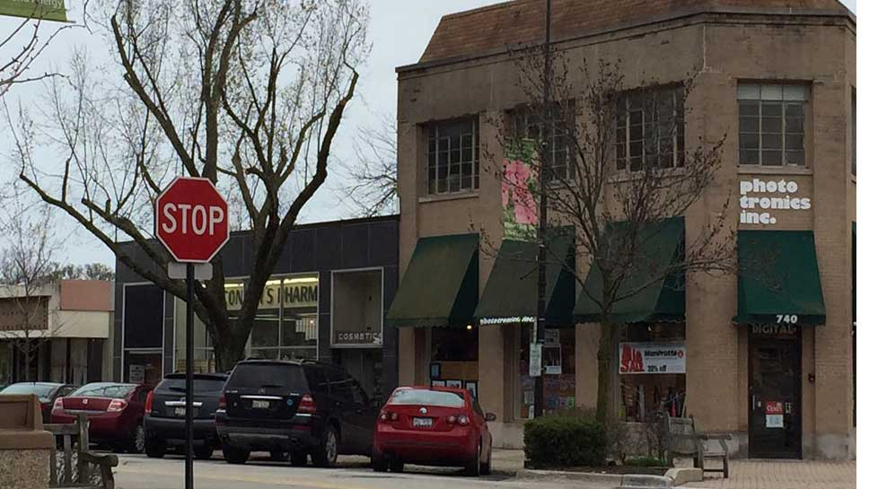 The space that's under discussion for the One Winnetka mixed-use development