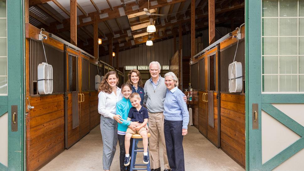 Margaret Kelley, Lillard Preschlack, Edgar Kelley, Paula Lillard Preschlack, and John and Paula Lillard. Photography by Robin Subar