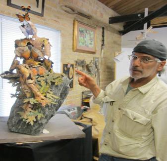 Master sculptor Omri Amrany