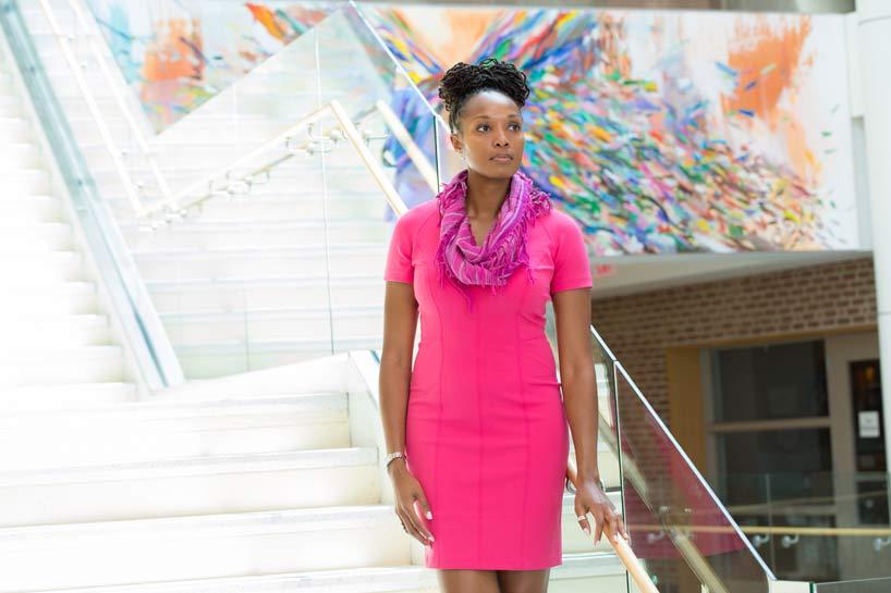 Dr. Chala Holland at LFHS; photography by Robin Subar