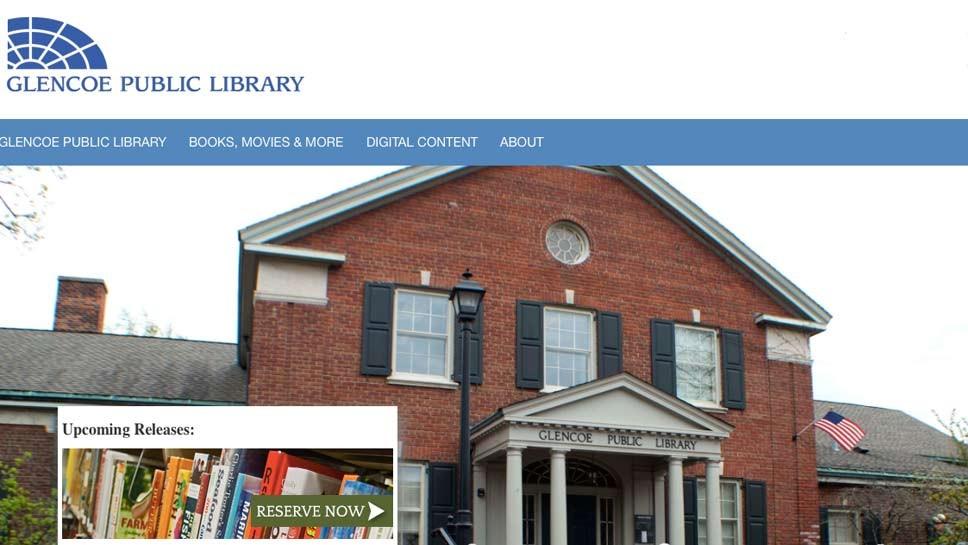 Glencoe Library Hails New Website