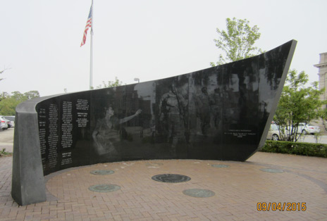 Highland Park honors those who sacrificed their lives for America with this magnificent stone sculpture by Julia Rotblatt Amrany and Omni Amrany