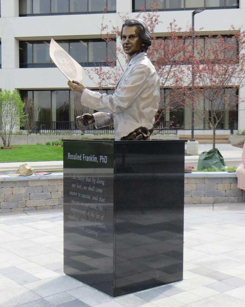 Rosalind Franklin, PhD, by Julie Rotblatt Amrany at Rosalind Franklin University of Medicine and –Rosaline Franklin University of Medicine &       Science, North Chicago