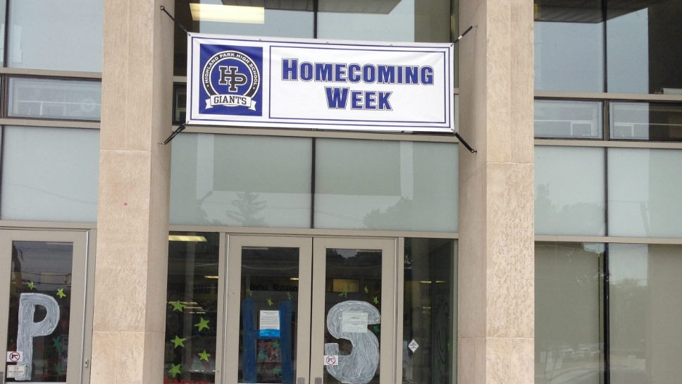 HPHS displayed its Homecoming banner.