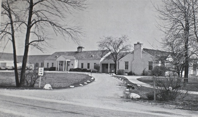 Sunset Ridge School, 1966 showing the central core two room schoolhouse still at the heart of the school
