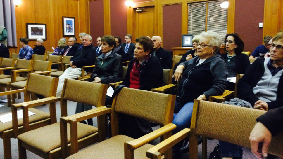 Northbrook residents opposed to a housing development on the Mission Hills Country Club golf course showed up in force at the Oct. 13 meeting of Northbrook's Village Board of Trustees.
