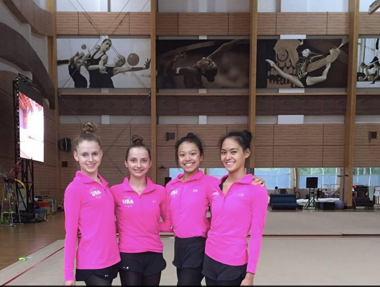 Zeng with fellow NSR gymnasts. Credit: Zeng/Facebook