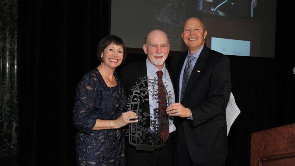 Honorees Jacki Barron, Dr. Steven Rosen, and Bruce Barron