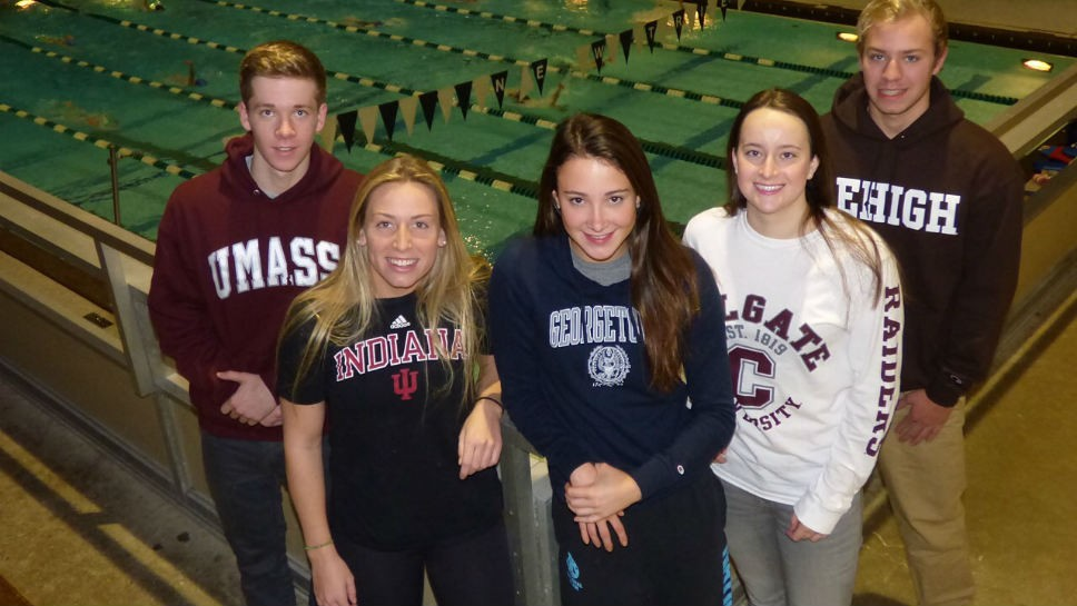 Five NT swimmers sign letters of intent