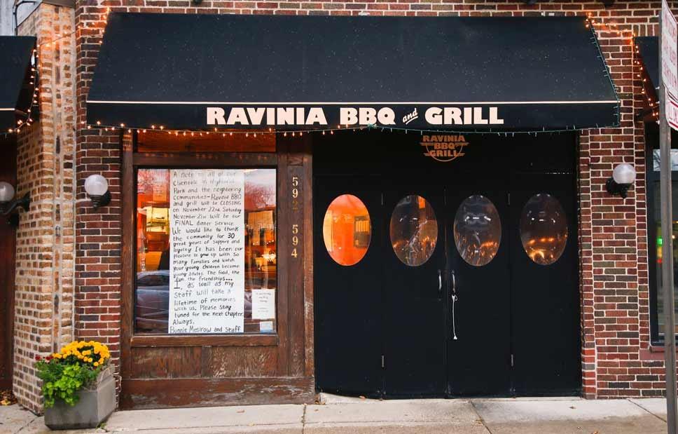 Ravinia BBQ & Grill Closing