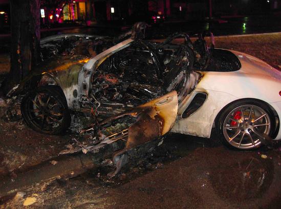 Teens Survive Fiery Crash
