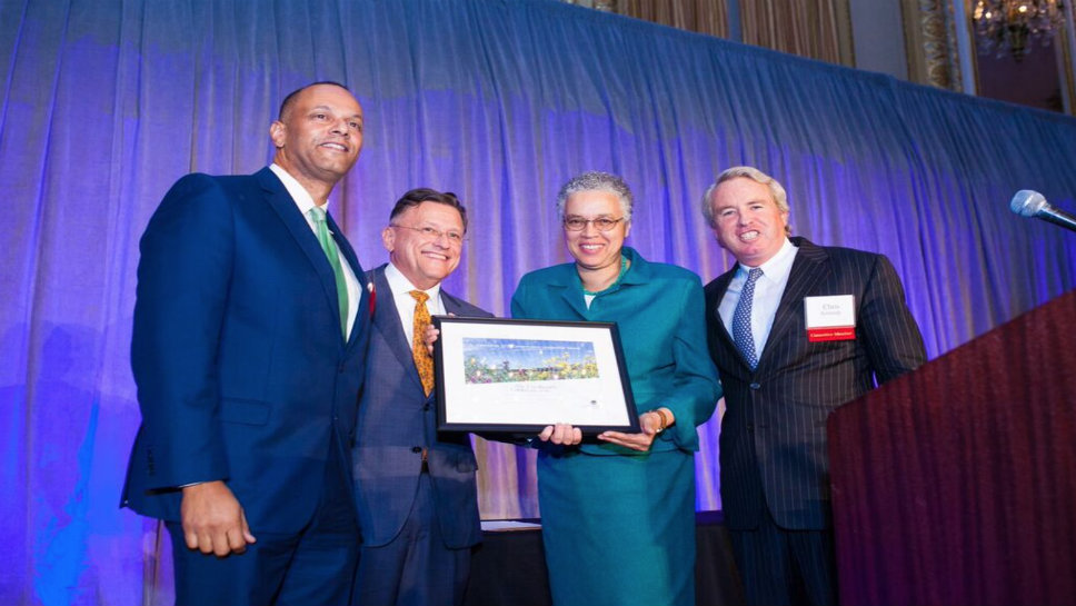 General Superintendent Arnold Randall, Jerry Adelmann, Honoree Toni Preckwinkle and Chris Kennedy