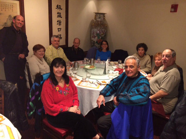 Members of Deerfield's Congregation Ahavat Olam enjoying Chinese food on Christmas day 2014.