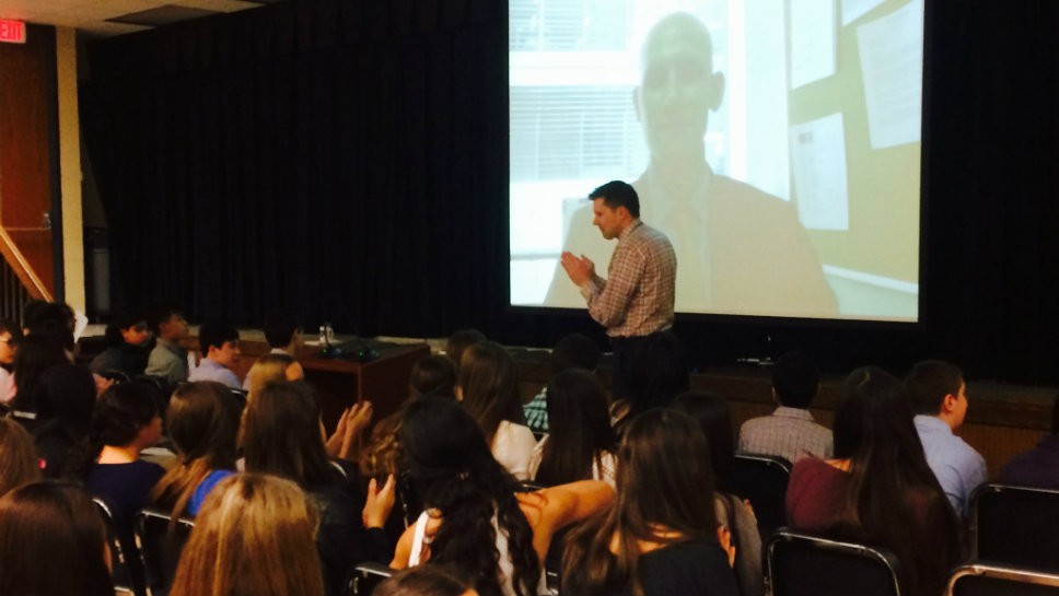 Skype Takes Wood Oaks Students to D.C.