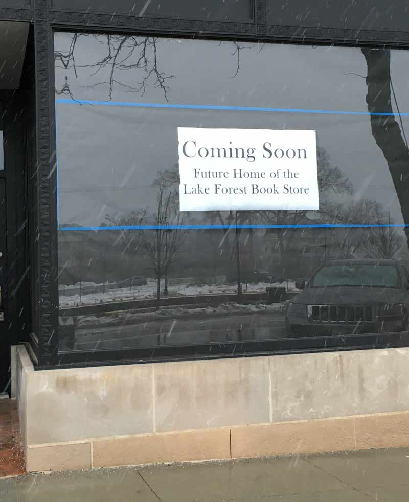 A sign is already up in the new storefront.