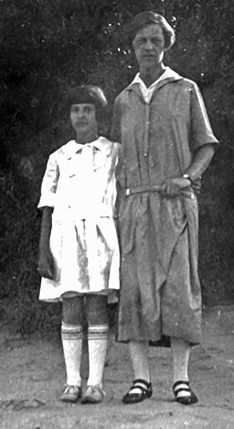Marion Stern with her governess in 1923; photo from the Highland Park Historical Society archives