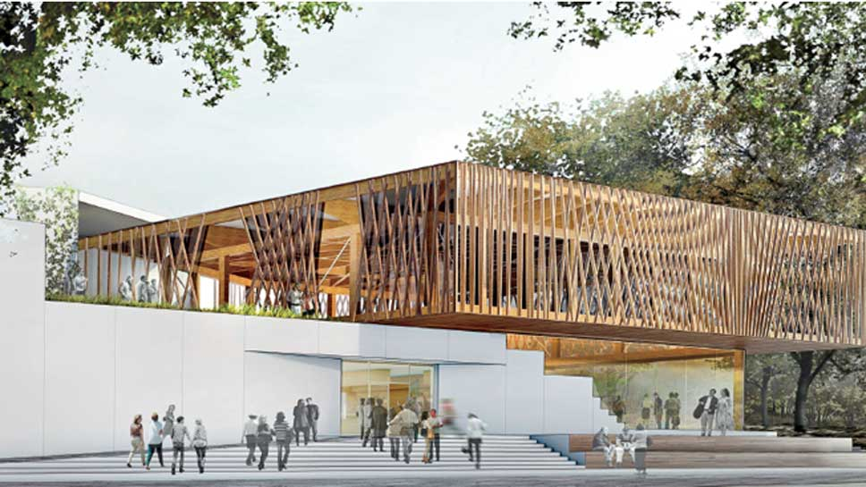 Rendering of the new Writers Theatre