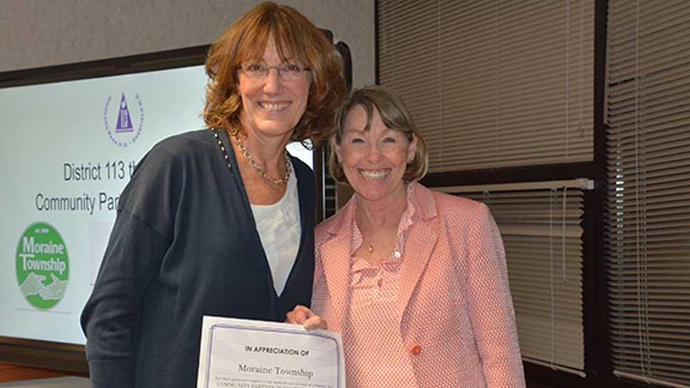 District 113 recognizes Moraine Township, West Deerfield ...