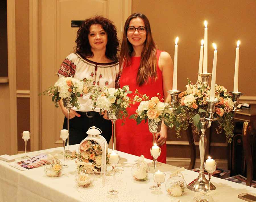 From left, Flowers by Geo partners Georgiana Tudosescu and Nina Pancratov.