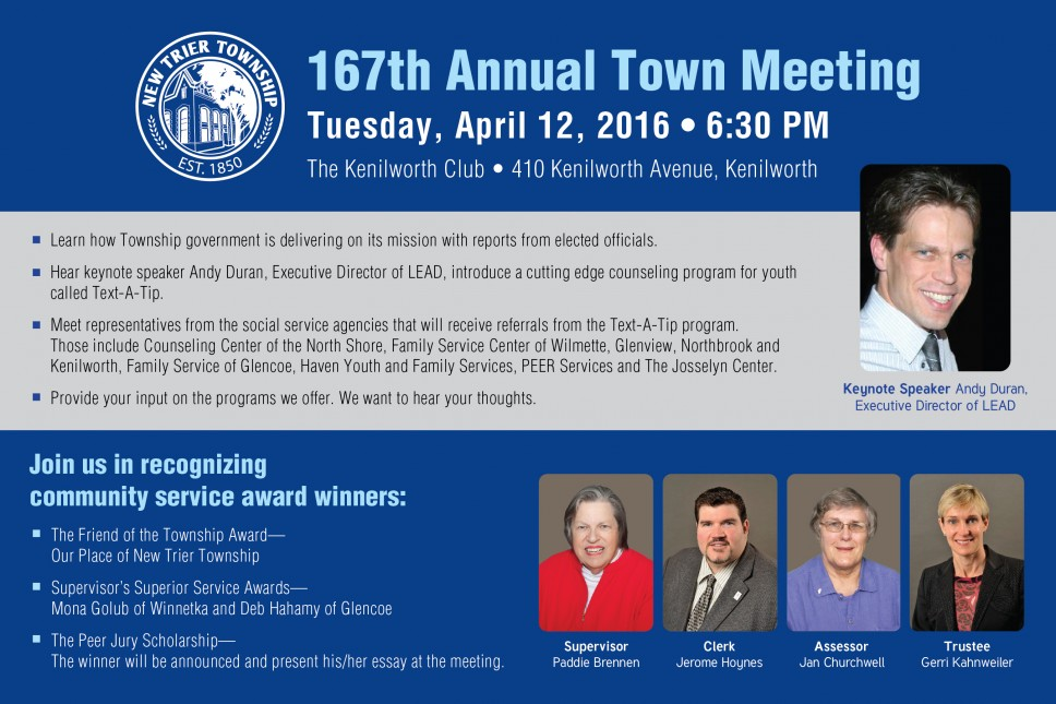 New Trier Township Annual Town Meeting