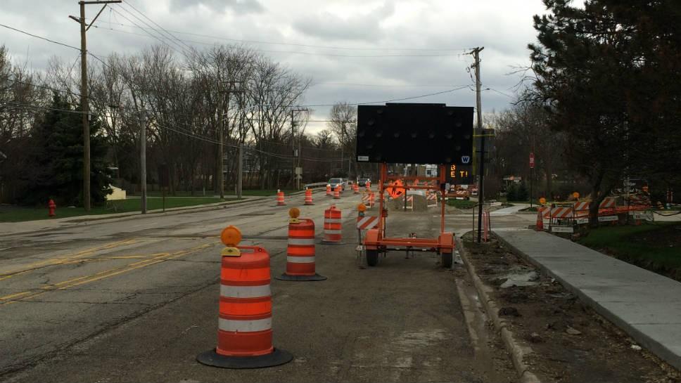 Recent construction on Deerfield Road.
