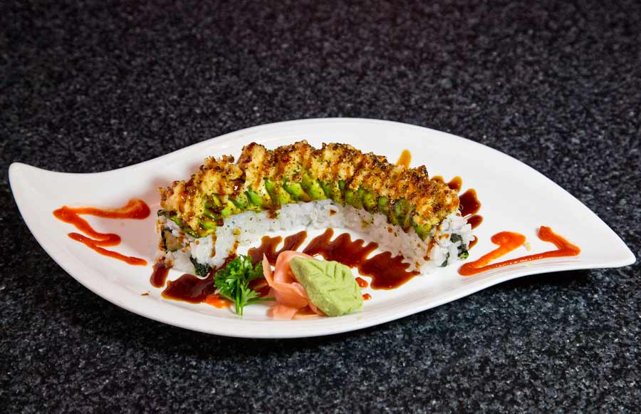 Kanas Roll, with cucumber an crab, at Koya in Highwood. Photography by Joel Lerner/JWC Media