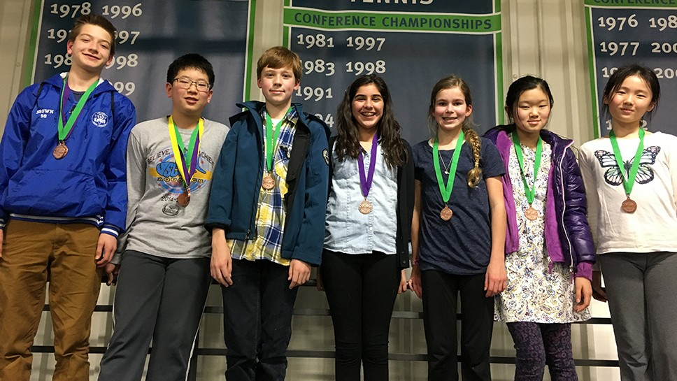 LBMS medalists at the Lake County Regional Science Olympiad.