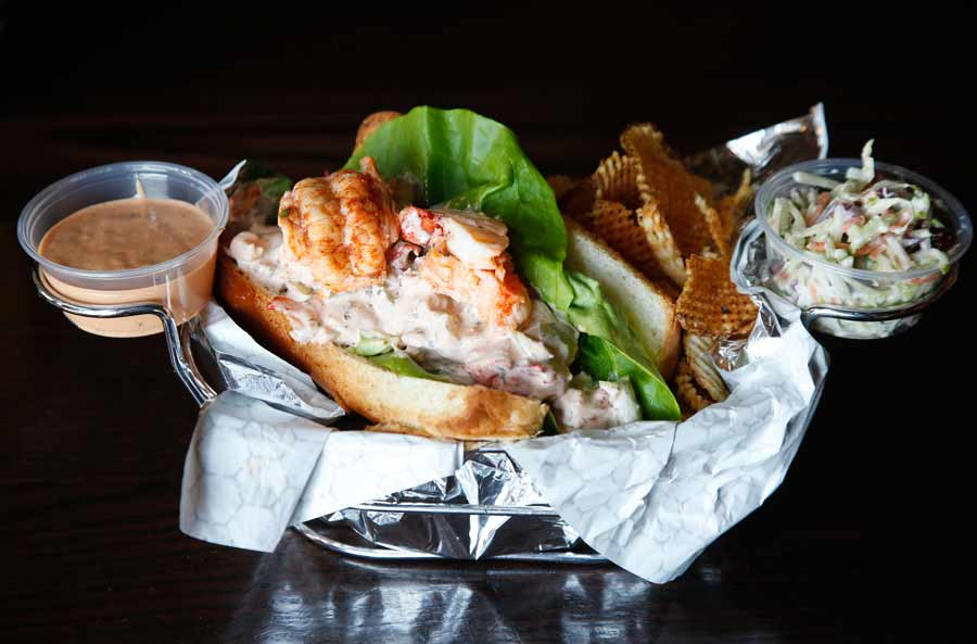 The Lucky Lobster Roll at Lucky Fish in Highwood.