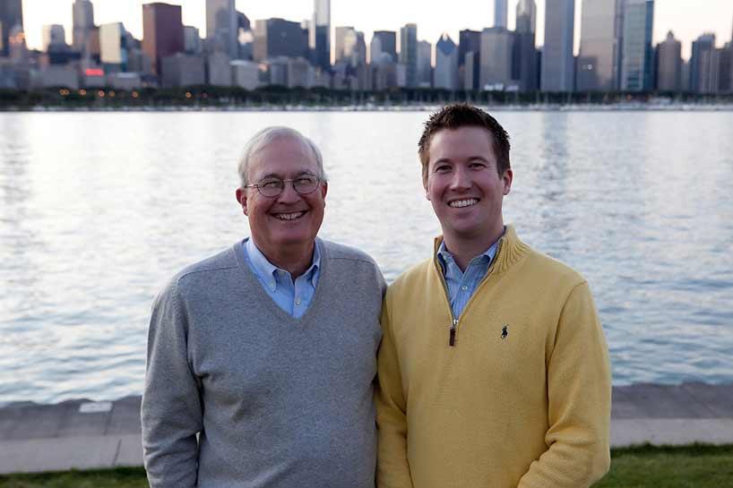 Financial planners Dan Maga and Dan Maga II of Wilmette.