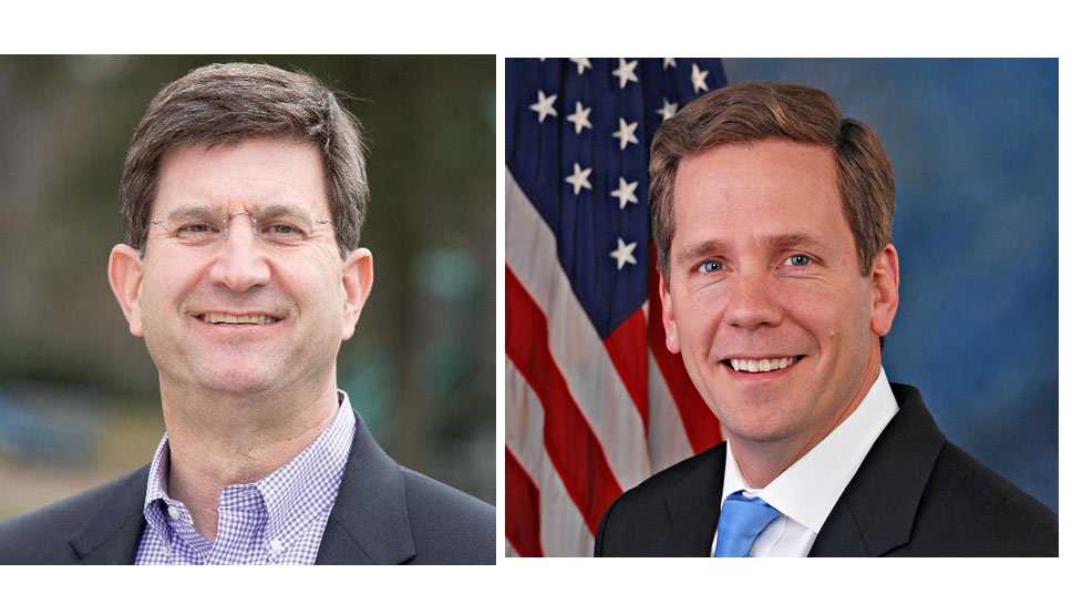 Brad Schneider, left, and Rep. Robert Dold, right