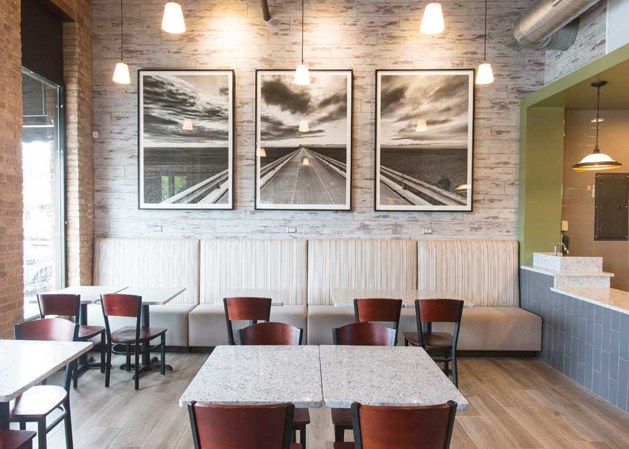 The interior at Avli's new rotisserie in Winnetka. Photography by Joel Lerner/JWC Media
