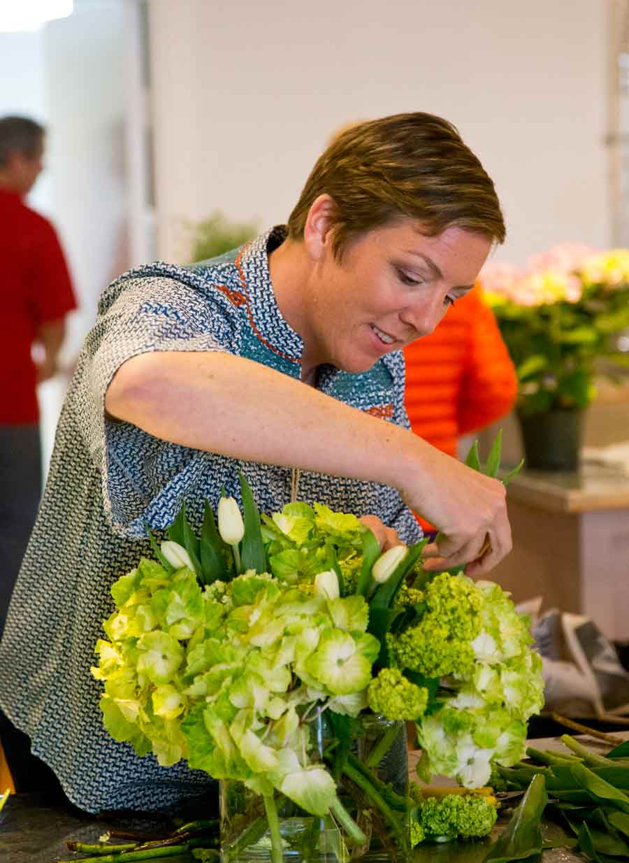 Molly Flavin in her new florist business in Market Square. Photography by Joel Lerner/JWC Media