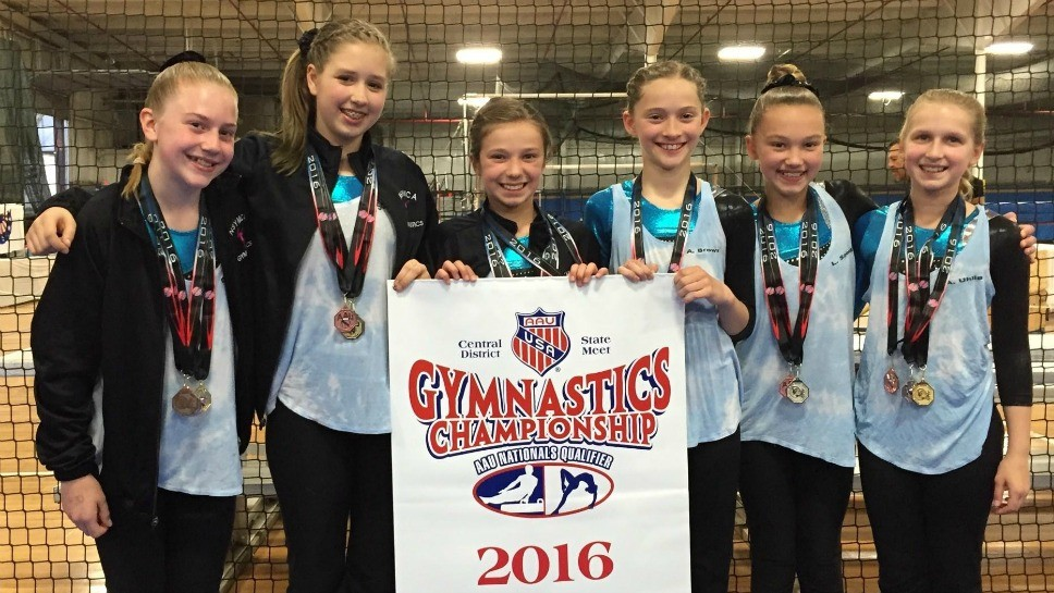 YMCA Gymnasts Place Third