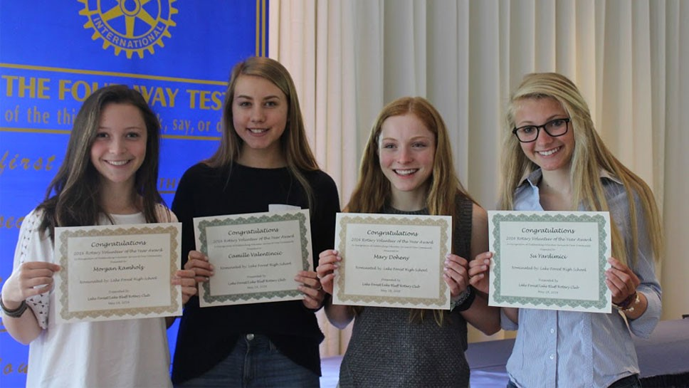 LF-LB Rotary Honors Student Volunteers