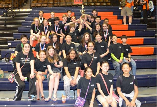 Marie Murphy's Science Olympiad team
