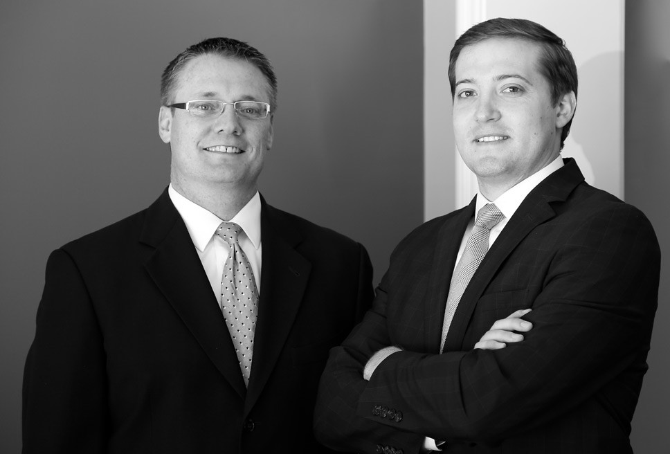 Funeral directors Chad Reuland and Eli Turnbough