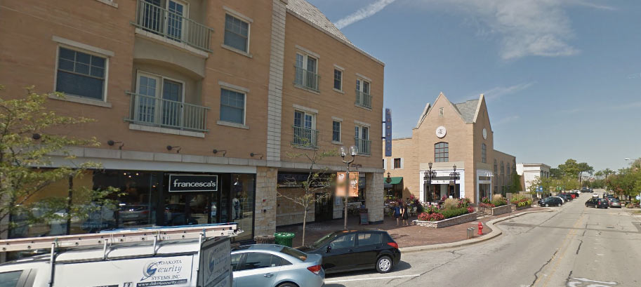 Google image of Renaissance Place in downtown Highland Park.