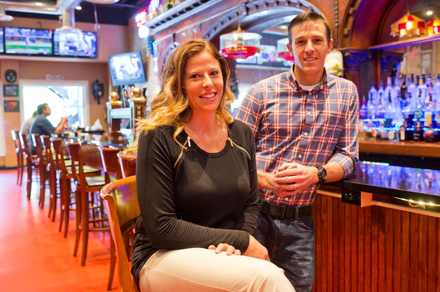 New Owners and siblings Sarah Sundquist and Joe Knesley at Chief's Pub in Lake Forest. They are taking over for their dad. Photography by Joel Lerner/JWC Media