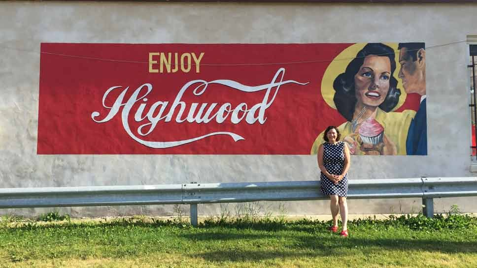 DailyNorthShore.com Editor Adrienne Fawcett in Highwood, just in time for North Shore Taco Fest.