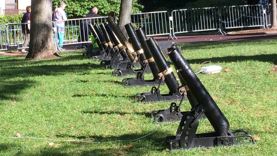 The cannons are ready for the 1812 Overture.